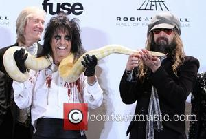 Alice Cooper and Rob Zombie attends the 26th annual Rock and Roll Hall of Fame Induction Ceremony at The Waldorf...