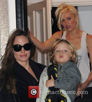 Jolie's Son Spends Time With Grandmother