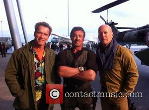 Arnold Schwarzenegger Posts Expendables Set Photo Online