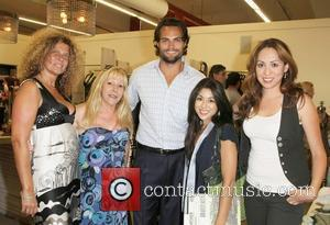 Sophie Wizmann, Scott Elrod, Jen Lesser and Guests Official launch party of the 'Lova Tee-Shirt Company', held at at Babakul...