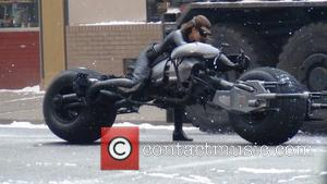 Anne Hathaway's stunt double as Catwoman on the set of the new Batman film 'Dark Knight Rises' filming in Pittsburgh...