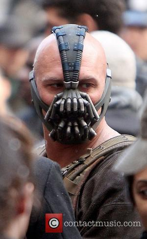 Tom Hardy on the Batman movie set of 'The Dark Knight Rises'  New York City, USA - 06.11.11