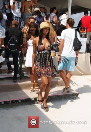VH1 Basketball Wives cast members Evelyn Lozada, Juli Richmond and Jennifer Williams  AMG Beach Polo World Cup - Day...