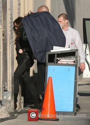 Victoria Beckham arrives stage door for the Jimmy Kimmel Live show in Hollywood. Los Angeles, California - 31.03.11