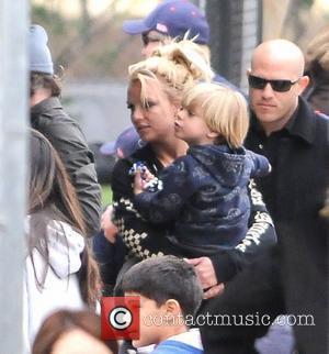 Britney Spears, with son Jayden Federline, attending her son Sean Preston's little leage baseball match Los Angeles, California - 19.03.11