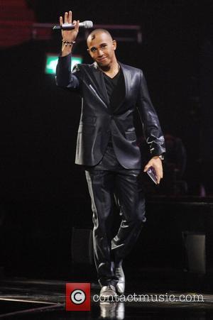 Lewis Hamilton ,  The BRIT Awards 2011 at the O2 Arena - Inside London, England - 15.02.11