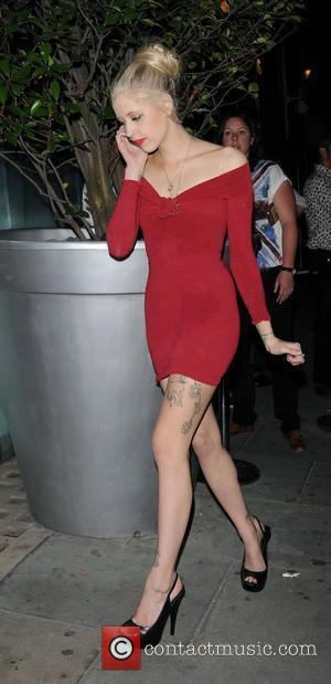 Peaches Geldof in a clingy red dress leaves Bungalow 8 Club London, England - 29.07.11