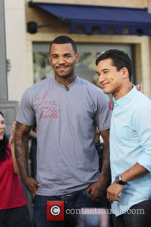 Rapper The Game aka Jayceon Terrell Taylor at The Grove to film an appearance with Mario Lopez for the entertainment...