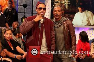 Nas aka Nasir bin Olu Dara Jones and Eddie Murphy appearing together on BET's '106 & Park' New York City,...