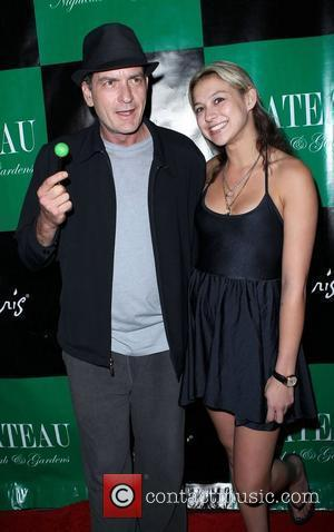 Charlie Sheen and Natalie Kenly Charlie Sheen hosts an evening at Chateau Club and Gardens inside the Paris Hotel and...