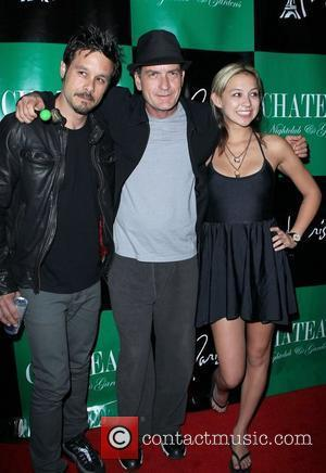 Rob Patterson, Charlie Sheen and Natalie Kenly Charlie Sheen hosts an evening at Chateau Club and Gardens inside the Paris...