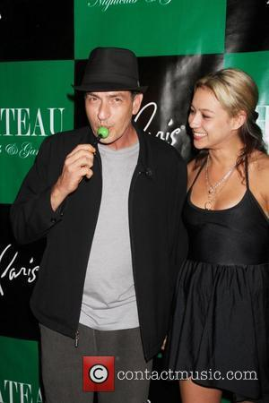 Charlie Sheen, Natalie Kenly Charlie Sheen hosts an evening at Chateau Club and Gardens inside the Paris Hotel and Casino...