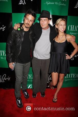 Rob Patterson, Charlie Sheen, Natalie Kenly Charlie Sheen hosts an evening at Chateau Club and Gardens inside the Paris Hotel...