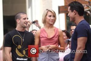 Chelsea Kane and Mark Ballas 'Dancing with the Stars' dancers arrive at The Grove to interview with Mario Lopez Los...