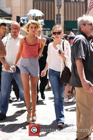 Chelsea Kane 'Dancing with the Stars' dancers arrive at The Grove to interview with Mario Lopez Los Angeles, California -...