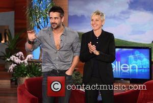 Colin Farrell and Ellen Degeneres
