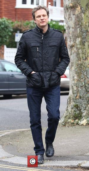 Colin Firth returns home after attending the Berlin International Film Festival (Berlinale) London, England - 18.02.11