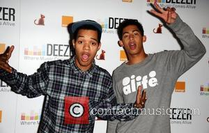 English Rap duo from Brighton, Jordan Rizzle Stephens and Harley Sylvester Alexander-Sule a.k.a Rizzle Kicks attend Deezer, the music streaming...