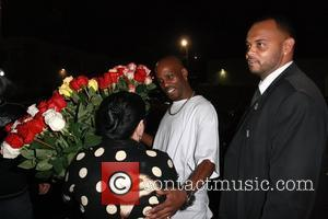 DMX aka Earl Simmons rapper hugging a fan while leaving The Colony after attending a Maxim magazine party Los Angeles,...