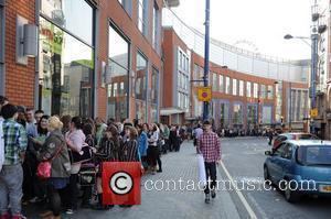 Hundreds of fans line up to see pop sensation Ed Sheeran perform at HMV. Manchester, England - 15.09.11