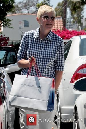 Ellen DeGeneres leaving Fred Segal with her wife after shopping together Los Angeles, California - 29.04.11