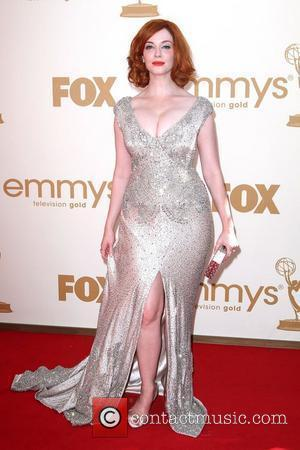 Christina Hendricks, at the 63rd Primetime Emmy Awards, held at Nokia Theatre L.A. LIVE - Arrivals Los Angeles, California -...