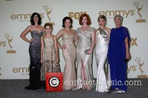 Jessica Pare, Kiernan Shipka. Elisabeth Moss, Christina Hendricks, Cara Buono The 63rd Primetime Emmy Awards held at the Nokia Theater...