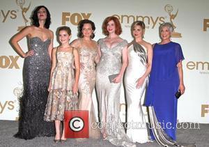 Jessica Pare, Kiernan Shipka, Elisabeth Moss, Christina Hendricks, Cara Buono and Randee Heller The 63rd Primetime Emmy Awards held at...