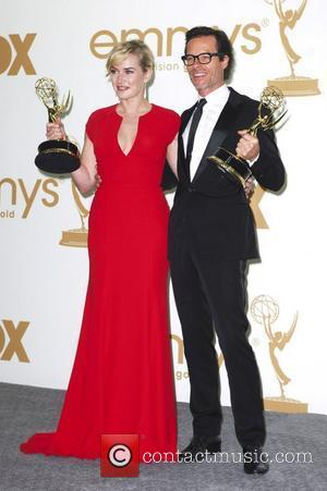 Kate Winslet, Guy Pearce  The 63rd Primetime Emmy Awards held at the Nokia Theater LA LIVE - Press Room...