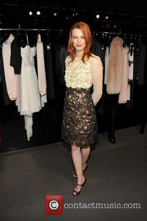 Karen Elson Fashion Night Out - Dolce & Gabbana launch the Passion Duo lipstick New York City, USA - 08.09.11...