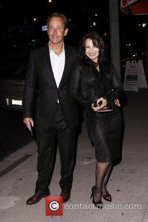 Fran Drescher and Peter Marc Jacobson outside BOA Steakhouse  Los Angeles, California - 24.02.11