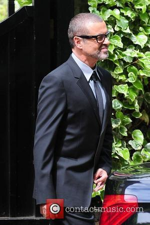 George Michael leaving home to go to a press conference London, England - 11.05.11