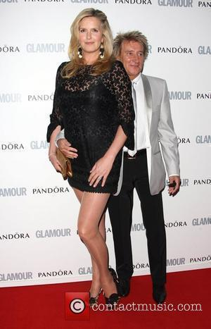 Rod Stewart and Penny Lancaster The Glamour Women of the Year Awards 2011 - Arrivals London, England - 07.06.11 From...