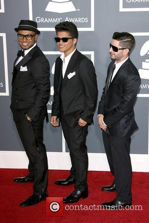 Bruno Mars and Guests The 53rd Annual GRAMMY Awards at the Staples Center - Red Carpet Arrivals Los Angeles, California...