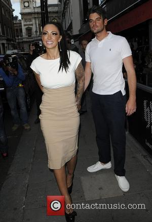 Jodie Marsh and boyfriend arriving at Embassy Club London for HD Brows launch party. London, England - 31.05.11