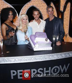 Cheaza, Holly Madison, Josh Strickland, Jerry Mitchel Holly Madison and the cast of Peepshow celebrate two remarkable years at Planet...