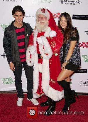 Boo Boo Stewart, Fivel Stewart and Santa Claus  The 80th Anniversary of The Hollywood Christmas Parade benefiting Marine Toys...