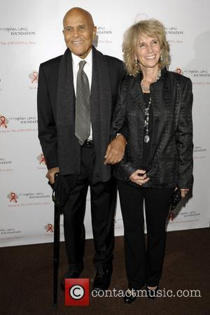 Harry Belafonte and wife Pamela Frank at the Stephen Lewis Foundation's Hope Rising! Benefit Concert held at the Sony Centre...