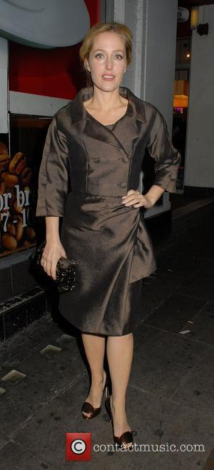 Gillian Anderson,  at The Hoping Foundation Benefit Evening held at Cafe de Paris - Arrivals London, England - 21.11.11