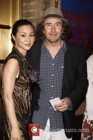 China Chow and Steve Coogan  Opening night of the Broadway production of 'The House Of Blue Leaves' at the...