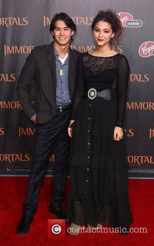 BooBoo Stewart and Fivel Stewart 'Immortals 3D' Los Angeles premiere at Nokia Theatre L.A. Live  Los Angeles, California -...