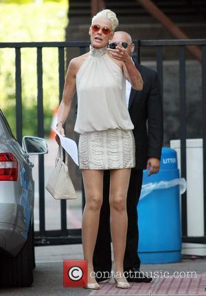 Brigitte Nielsen outside the ITV studios London, England - 30.06.11