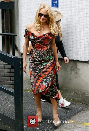 Pamela Anderson Celebrities outside the ITV studios London, England - 13.09.11