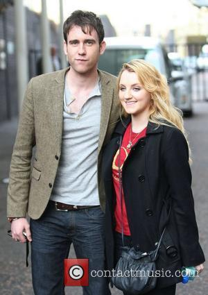 Matthew Lewis and Evanna Lynch at the ITV studios London, England - 11.04.11