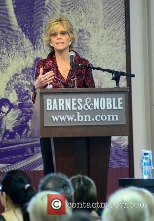 Jane Fonda attends a meet and greet and signing of her book Prime Time at Barnes and Noble in Union...