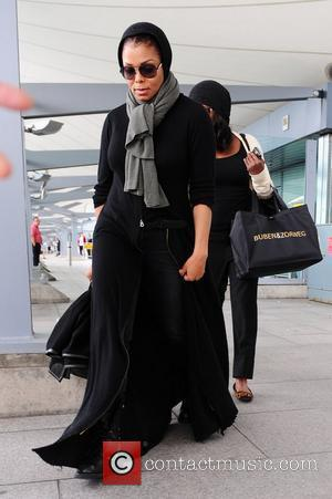 Janet Jackson arriving at Heathrow Airport London, England - 30.06.11