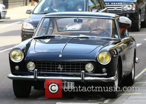 Jay Kay in his vintage Ferrari London, England - 23.09.11