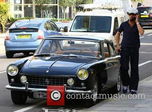 Jay Kay getting out of his vintage Ferrari London, England - 23.09.11