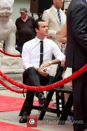 Justin Theroux attends his girlfriend's Hand and Footprint Ceremony outside Grauman's Chinese Theatre Los Angeles, California - 07.07.11