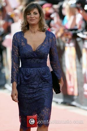 Sunetra Sastry, wife of Rowan Atkinson The world premiere of 'Johnny English Reborn' held at Hoyts Cinema Sydney, Australia -...